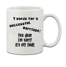 7 Words For A Successful Marriage Ceramic Coffee Tea Mug Cup