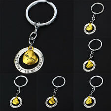 Family Gift Silver Plated Keyring Forever In My Heart Fashion Hot Mom Dad Purse