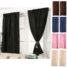 130x190cm Solid Window Curtains Thermal Lined Insulated Gromment Drape Panel