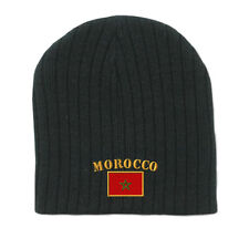 MOROCCO FLAG Embroidery Embroidered Beanie Skull Cap Hat