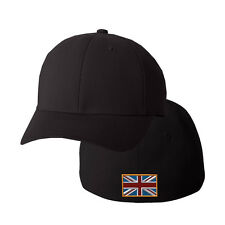 BRITAIBN ENGLAND FLAG Embroidery Embroidered Black Cotton Flexfit Hat Cap