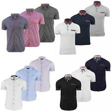 MENS CASUAL COTTON SHORT SLEEVE SUMMER SHIRTS (S-XXL) BY BRAVE SOUL