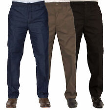 Carabou Rugby Mens Denim Blue Formal Workwear Pants Trousers Waist Sizes 32-60