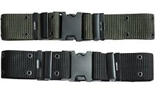Quick Release Clip Buckle Security Style  Belt Army Forces Cadets Airsoft