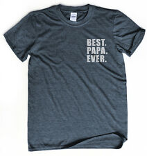 Best papa ever t-shirt Pocket print shirt Father's day gift Papa shirt gift tee