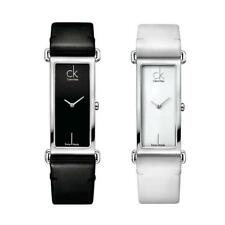 Womens Watch CK CALVIN KLEIN CITIFIED Leather Black White SWISS MADE Classic