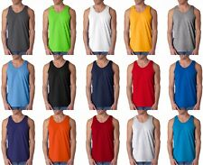 Gildan 2200 Mens Ultra Cotton Tank Top Classic Fit Muscle Tee ANY COLOR ANY SIZE