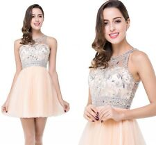 Cheap Short Crystals Beaded Homecoming Dresses Cocktail Evening Party Prom Gowns
