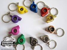 REAL SPINNING TURBO TURBOCHARGER KEYCHAIN KEY RING CHAIN T3 T4 T25 KEYRING