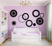 Large Circles Vinyl Decal Wall Stickers Teen Girl Boy Room Modern Wall Art