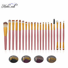 20PCS Makeup Brush Powder Foundation Eyeshadow Eyeliner Lip Cosmetic Brushes Set