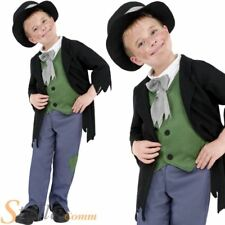 Boys Victorian Artful Dodger Costume Oliver Twist Book Fancy Dress Child Outfit