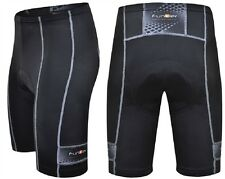 Funkier Mens Black 10 Panel Active Cycle Cycling Shorts Padded Lycra S-203-C1