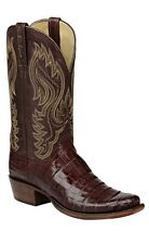Lucchese HL1014 Mens Brown Caiman Crocodile Leather Western Cowboy Boots