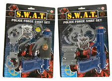 SWAT Police Force Gun Set With Accessory-Blister Pack-2 Style