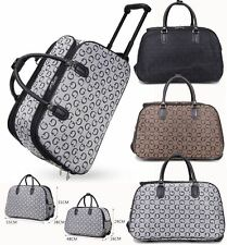 UNISEX HOLDALL G DESIGNER STYLE PRINT TRAVEL LUGGAGE BAG HANDLE WHEELED SUITCASE