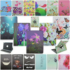 "Cartoons Flower 360 Rotary Leather Flip Folio Stand Cover Case For 9.7"" iPad Pro"