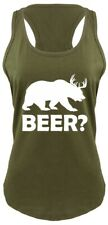 Beer Deer Bear Funny Ladies Racerback Tank Top Hunting Guns Beer Party Tank Z6