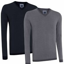 60% OFF* Ashworth 2016 Cashmere Blend Oxford Jumper Mens V-Neck Golf Sweater