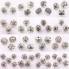 Wholesale 10/20Pcs Tibetan Silver Charms Round Spacer Beads Jewelry Finding DIY