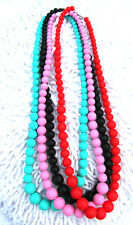 1x Teething Silicone Nursing Necklaces Mum & Baby Beads Chew Teething Jewellery