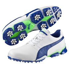 New Titan Tour Ignite Puma Golf Shoes White-Surf the Web-Gecko Green 188656 04