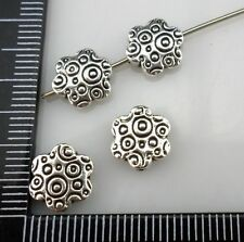 10/40/300pcs Tibetan silver oblate Flower Spacer Beads 3x9mm (Lead-free)