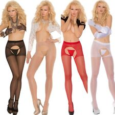Sheer Crotchless Pantyhose Lingerie Regular or Plus Size Queen EM1726