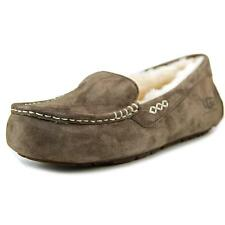 Ugg Australia Ansley Women  Moc Toe Suede Brown Moccasin Slippers Shoes