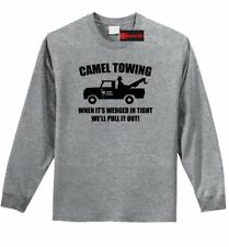 Camel Towing Funny Mens L/S Shirt Adult Humor Rude Truck Tow Sex Tee Z1