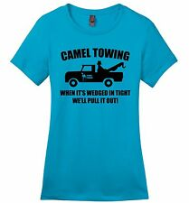 Camel Towing Funny Ladies Shirt Adult Humor Rude Truck Tow Sex Tee Z4