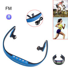 Sport Wireless Headset Headphone Earphone Music Player TF/ Micro SD Slot MP3 WMA