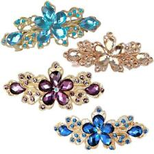 Fashion Bridal Wedding Party Flower Crystal Rhinestone Barrette Hair Clip Pin