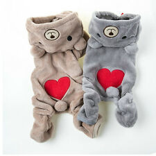 Chihuahua Teddy Dog Puppy Pet Jumpsuit Pajamas Warm Jacket Coat Clothes SE