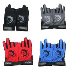 Waterproof Fishing Gloves 3 Cut Finger Anti-Slip Palm Mitts & Adjustable Wrist