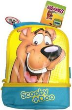 NEW Kids Scooby Doo Insulated Lunch Bag Box Dual Compartment 100% PVC FREE