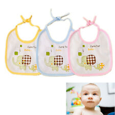 Kids Cotton Bibs Elephant Waterproof Baby Boys Girls Saliva Bibs 3 Colors Lovely