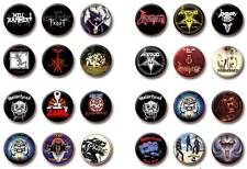 Lots of 6 CELTIC FROST / VENOM / NWOBHM / MOTÖRHEAD Buttons (Logo & CD Covers)