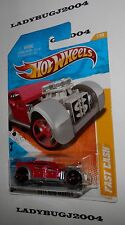 2011 Hot Wheels FAST CASH #7 - Red/Gray - NEW MODELS 2011 - Red 5 Spoke OH