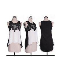 Tops Chiffon Loose Blouse Casual T-Shirt Women's Vest Fashion Sleeveless Ladies