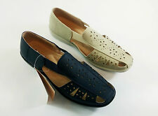 LADIES DR LIGHTFOOT SLIP ON ELASTICATED SANDAL LOAFER 2 Colours SIZE 3-8 7205