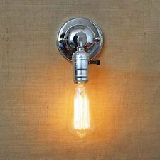 Chrome Adjustable Vintage Industrial Rustic Retro Sconce Wall Light Lamp Fitting