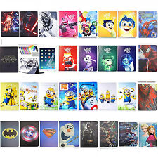 "Frozen Minions Cartoon Case for Apple iPad  Air Pro 12.9"" PU Leather Stand Cover"