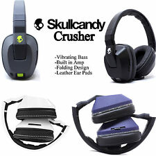 OEM Skullcandy Crusher Stereo Headset Supreme Sound with Amp Bass Black White