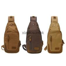 Canvas Retro Messenger Shoulder Sling Military Compact CrossBody Chest Pack Bag