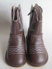 Toddler Boots - Squeaky Boots - Dark Brown Cowboy/Cowgirl Boots, Up to Size 10