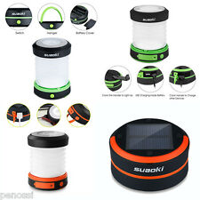 Collapsible Camping Outdoor Light Tent Lamp Lantern USB Solar Battery Wind up UK
