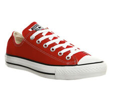 Mens Converse All Star Low RED CANVAS Trainers Shoes