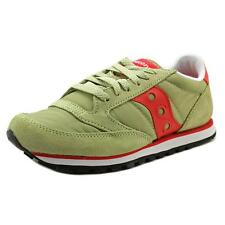 Saucony Jazz Low Pro  Women  Round Toe Canvas Green Running Shoe