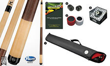 Viking A228 Khaki Stain Pool Cue Stick 18-21 oz Case Playboy 8-Ball Shaper